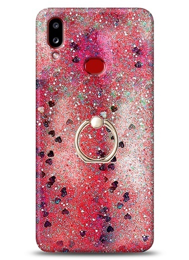MobilCadde Eiroo Bright Samsung Galaxy A10S Sulu Simli Kırmızı Silikon Kılıf Kırmızı